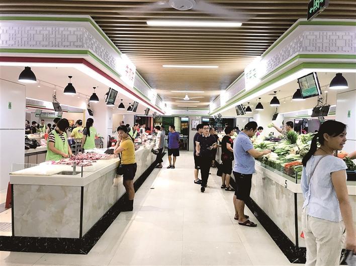 深圳市副市长黄敏一行到横岗第一市场调研考察